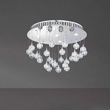 WOFI Plafonnier LED GLAM 5-flg CHROME AVEC PAMPILLES GOUTTES Ø 40 cm 22,5