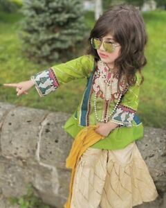 Girls pakistani eid collection wedding eid dress indian lehnga choli garara