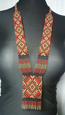 HANDCRAFTED Native Ukrainian traditional Jewelry BEADED Folk NECKLACE gerdan