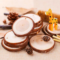 Natural Wood Slices 20Pcs 8-9cm Drilled Hole Unfinished Log Wooden Circles Decor