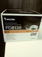 White Vivotek FD8136 Fixed Dome Network Camera, Stylish Design