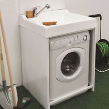 Colavene Lavacril On lavatoio copri lavatrice con lavabo ABS bianco 73x67,5x109h