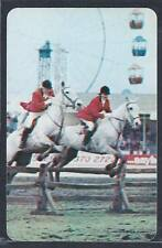#920.468 Blank Back Swap Cards -NEAR MINT- Show jumping horses