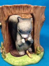 Woodland Surprises SQUIRREL Jacqueline Smith HandPainted Franklin Porcelain 1984