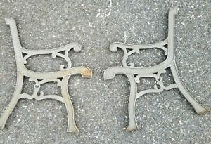 Vintage Victorian Style Cast Iron Metal Picnic Park Porch Bench Seat Ends Only