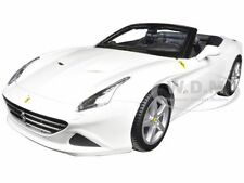 FERRARI CALIFORNIA T (OPEN TOP) WHITE 1:18 DIECAST MODEL CAR BY BBURAGO 16007