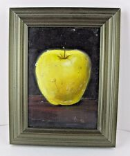 Painting Beautiful Delicious Apple Dripping with Water Framed 7x9