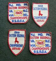 RARE Lot 4 - Vintage 1960s Roller Rink Skating Derby USFARS Championship Patches