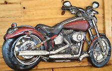 Blechschild Bike Motorrad Service Werkstatt Garage Metallschild Schild  Deko