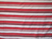 Striped Fabric Shower Curtain  Multi-Colored  white and red