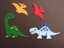 4 felt dinosaur die cuts. Embellishments, bunting, wreath, box frames, boys