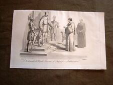 Incisione in rame del 1847 Lorenzo dei Medici Ambasciatore Ferdinando di Napoli