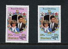 Bhutan 1981  #319-20  Charles Diana Royal Wedding SHORT-SET    2v.  MNH  I075