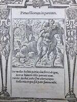 Enée Guerre de Troie 1551 Iliade Homère Venus Phidias Rarissime Gravure sur Bois