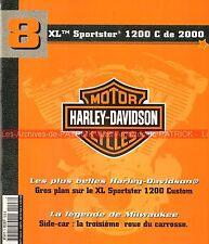 HARLEY DAVIDSON XL 1200 C Sportster Custom 2000 Side Car MOTO HD Story Histoire