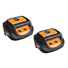 2x Tire Inflator LED  Car Air Pump Compressor Electric Portable Auto 12 V