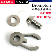 1 set Bicycle Titanium Handlebar Catcher Crab pincers Clamp for Brompton Bike