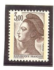 FRANCE variété LIBERTE 3,00 F brun-violet papier WHILEY YT 2243