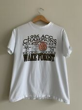 Vintage Wake Forest 1996 Acc Mens Basketball Champions Graphic Shirt Sz Large