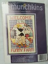 Welcome to the Funny Farm Counted Cross Stitch Kit by Munchkins