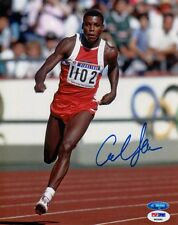 Carl Lewis Signed 8x10 Photo Olympic Gold Medalist Psa/Dna Autographed