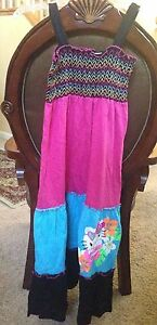 NWT Hello Kitty Maxi Dress Multi Color 7/8