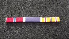 ^ Ordensspange WWII mit 3 Ribbons: Bronze Star,  Purple Heart,Asiatic and Pacifi