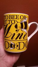 COLLECTIBLE DEPT 56 LET IT BE BUZZ YELLOW BLACK BUMBLEBEE COFFEE MUG CUP