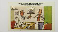 1960s Risque Comic Postcard Doctor GP Surgery Viagra Sildenafil Sex Stimulant
