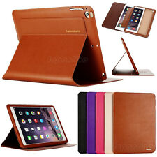 Luxury Genuine Leather Flip Stand Case Smart Cover For Apple iPad mini/Air/Pro
