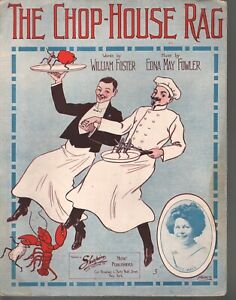 Chop House Rag 1911 Large Format Sheet Music