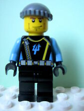 LEGO Minifig aqu018 @@ Aquaraider Diver 4 - Dark Bluish Gray Knit Cap  7775