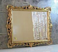 Espejo de Pared Dorado Adornos Espejo Barroco 38x36 Dorados Pasillo Espejo