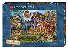 hy29722 - HEYE PUZZLE - 500 pièces - Herbivores dinosaures