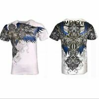 Xtreme Couture by Affliction Short Sleeve T-Shirt Mens ENSIGN White Blue Gold