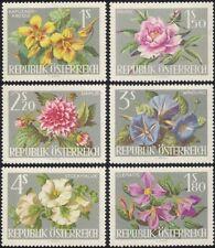 Austria 1964 Dahlia/Peony/Clematis/Mallow/Flowers/Plants/Nature 6v set (at1061a)