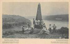 BOUNDARY MONUMENT WHERE BRAZIL, ARGENTINA & CHILE MEET, PEOPLE c 1910-20
