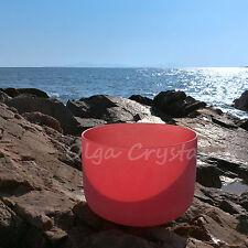 8 Inch C Root Red Quartz Crystal Singing Bowl Chakra