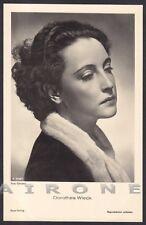DOROTHEA WIECK 05 ATTRICE ACTRESS SCHAUSPIELERIN CINEMA MOVIE STAR Cartolina FOT