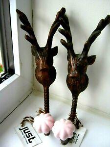 coat hooks  /  stag heads