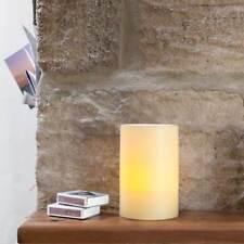 Candela Elettrica Lume Lumino Vera Cera 10x15 cm 1 LED Effetto Fiamma Arti Casa