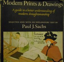 """Book, First Edition Drafting """"Modern Prints And Drawings"""" by Paul J Sachs.(1954)"""
