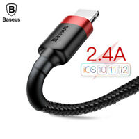 Baseus 2.4A USB Cable For iPhone Xs Xr 8 7 6s Fast Data Sync Cable Charger Wire