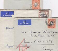 Kenya Uganda and Tanganyika KGVI Covers x 3 Postal History X9013