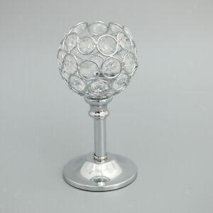 Crystal Votive Tea Light Silver Candle Holder Wedding Events Decor Silver -S