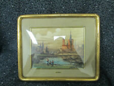 Antique Original by Lucio Cargnel oil painting, Italian landscape with figures.