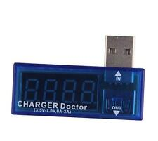 MINI 5v VOLT, AMP USB VOLTAGE & CURRENT DETECTOR, METER, MONITOR. CHARGER DOCTOR