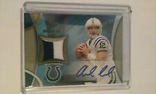 2013 Topps Andrew Luck Autograph Jersey 2-Color x/50 Certified Card