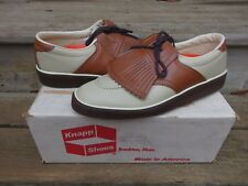 NOS Knapp Brown/White Casual Golf Shoes VTG Athletic Casual Shoe