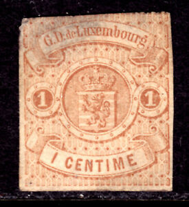 LUXEMBOURG #4 1c BUFF, 1863 IMPERF, VG, UNUSED, NO GUM